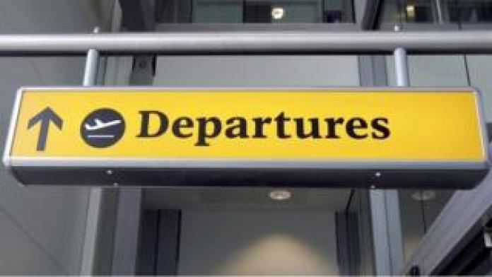 Heathrow departure sign