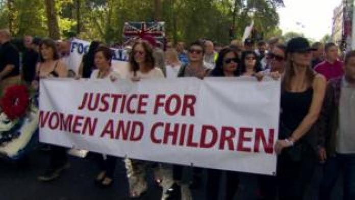 Justice for Women and Children join a march in London