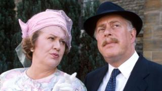 Clive Swift with Patricia Routledge in Keeping Up Appearances