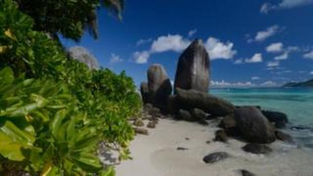 A scene of paradise in the Seychelles
