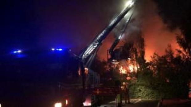 Firefighters at the scene overnight