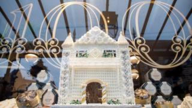 A Bettys 100 window display