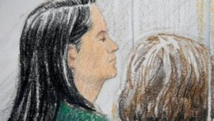 Court ruling by Meng Wanzhou during her bail in Vancouver, British Columbia, Canada on December 7, 2018