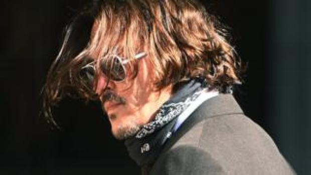 Johnny Depp at the High Court on Friday