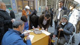 Residents of Tehran Cast They Votians in Friday's Elect
