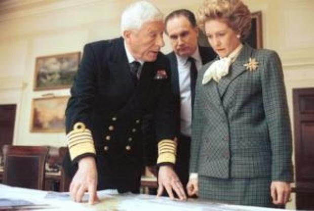 Patricia Hodge as Margaret Thatcher in The Falklands Play