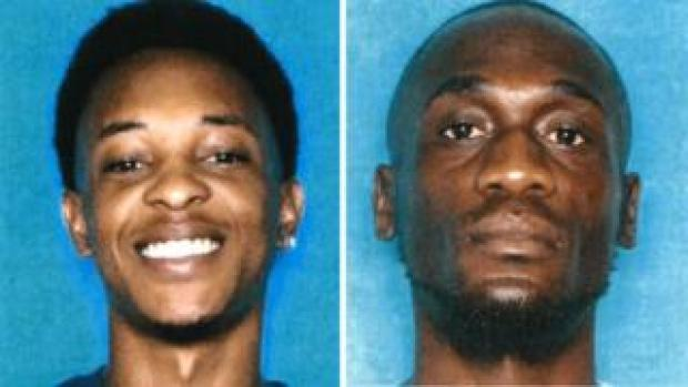 Composite image of two of three suspects, Thaddeous Green and Michael Mitchell