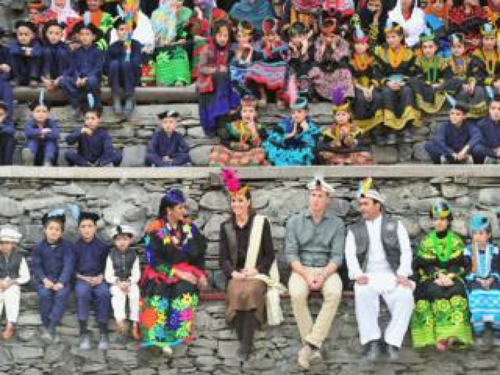 trump Prince William and Catherine, Duchess of Cambridge visit a settlement of the Kalash people in Chitral, Pakistan