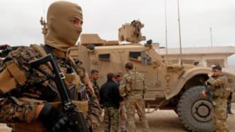 US troops in Syria on 4 November 2018