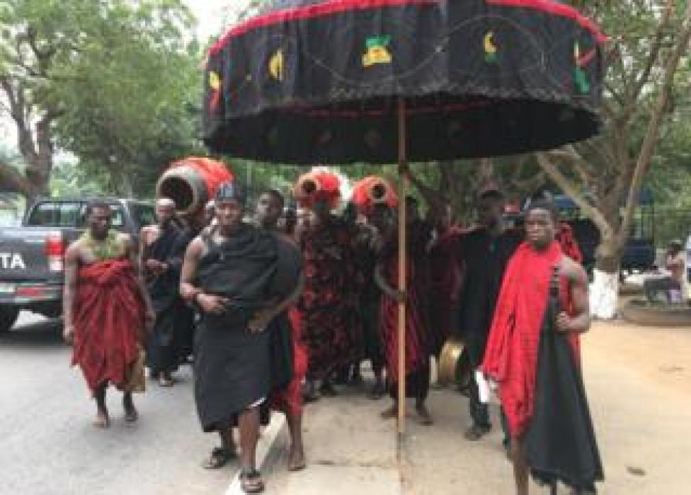 NEWS Paramount chiefs' magnificent ceremonial umbrellas at Annan's funeral