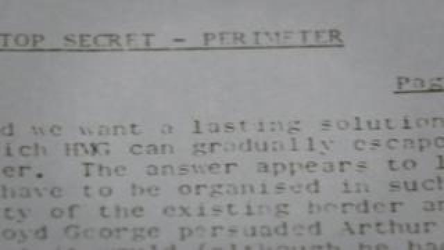 Top secret Army memo sent by Sir Michael Carver