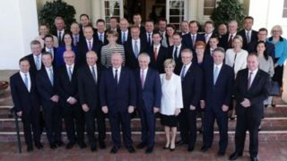Malcolm Turnbull's cabinet in 2016