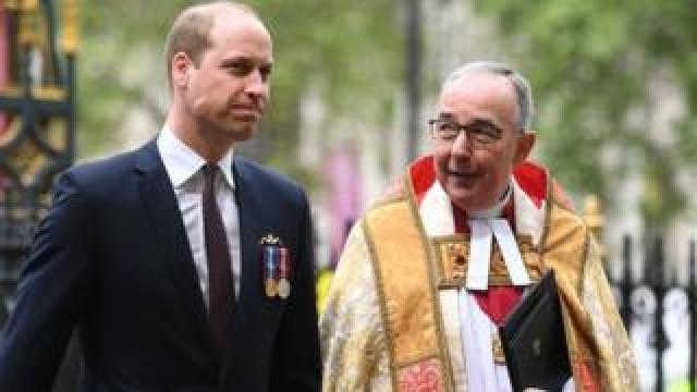 Duke of Cambridge and John Hall, Dean of Westminster