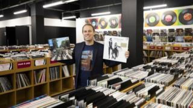 HMV's owner Doug Putman in the new HMV Vault store in Birmingham