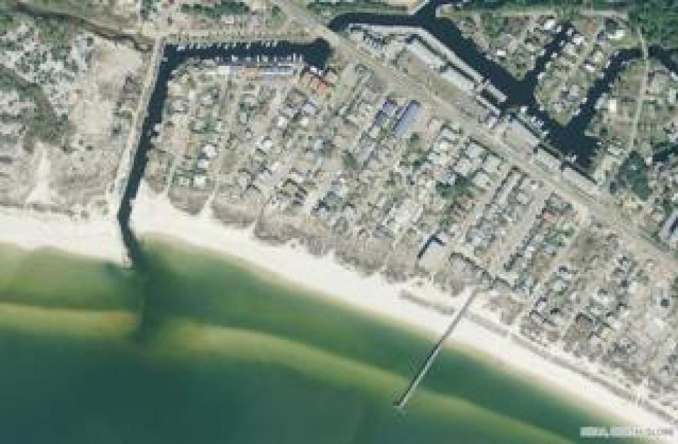 NEWS Mexico Beach City Pier, satellite image taken before Hurricane Michael