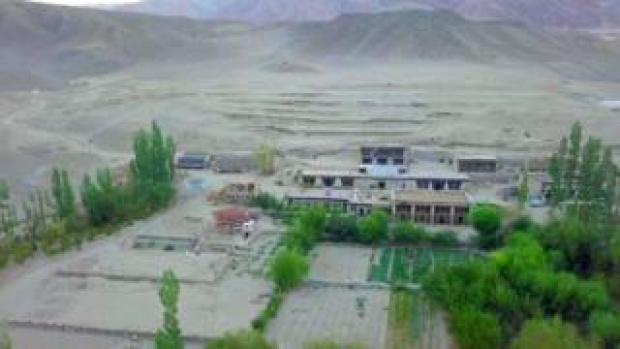 Drone footage of school