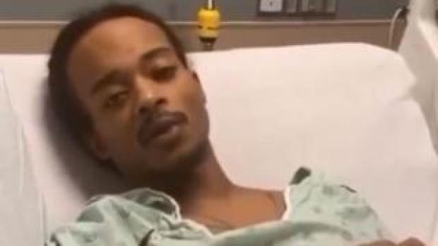 Screenshot of Jacob Blake in hospital