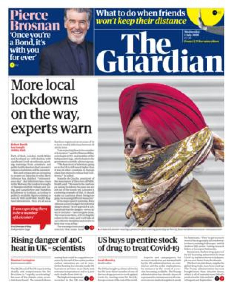 Guardian front page 01.07.20