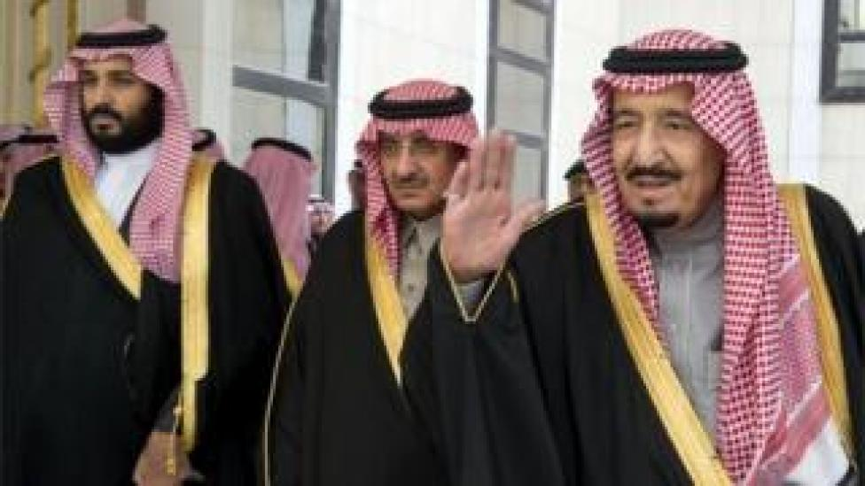 trump Mohammed Bin Salman(left), Mohammed Bin Nayef (centre), and King Salman (file photo)