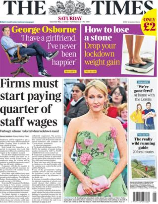 The Time front page 23 May