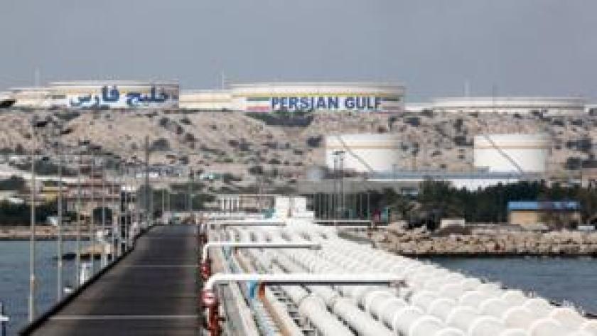 Producción petrolera en Irán.