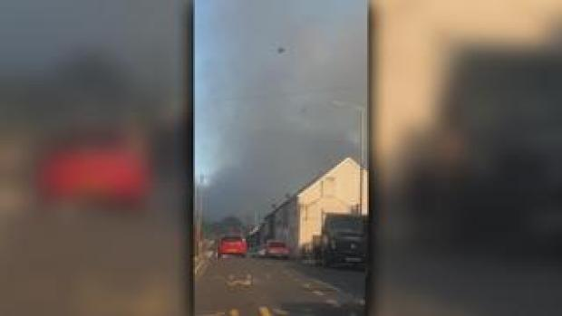Firefighters have been fighting a fire on Penrhys Mountain