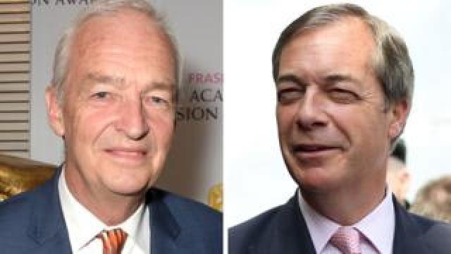 Jon Snow and Nigel Farage