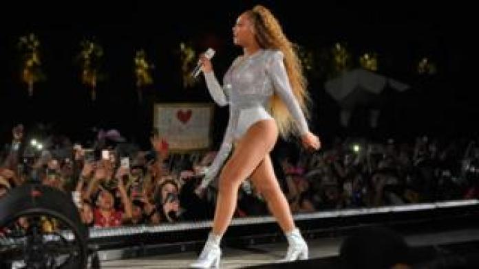 Beyonce performs at Coachella in 2018