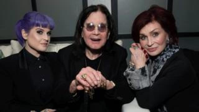Kelly, Ozzy and Sharon Osbourne