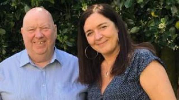 Liverpool mayor Joe Anderson and Lynnie Hinnigan