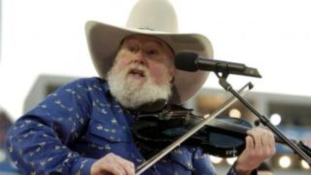US singer Charlie Daniels performs during pre-game ceremonies at Super Bowl XXXIX Sunday at Alltel Stadium in Jacksonville, Florida, 06 February 2005