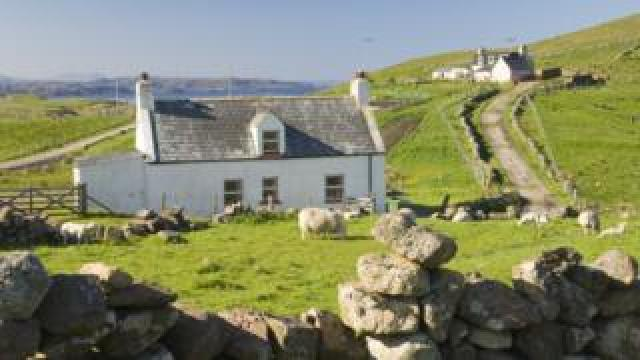 Crofting cottage at Blairmore near Kinlochbervie