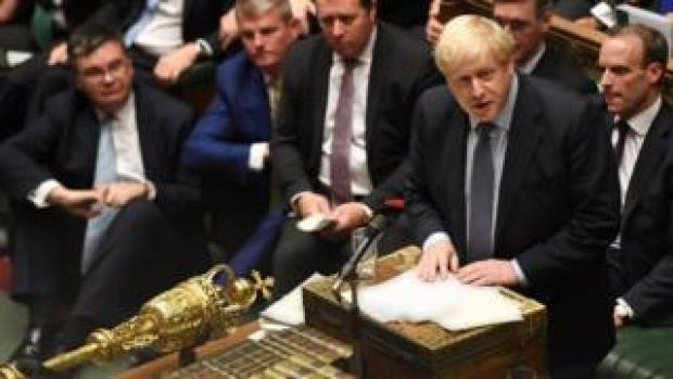 Boris Johnson speaking in the Commons