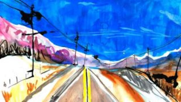 Illustration open highway