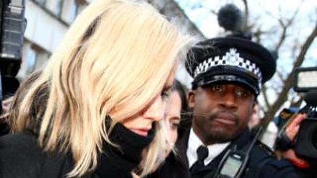 Caroline Flack at Highbury Magistrates Court