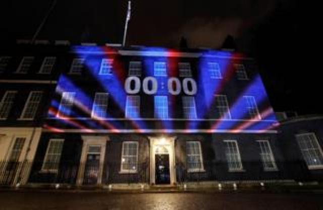 Downing Street at exactly 23:00 GMT on Friday 31 January