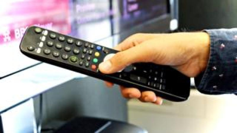 Red button on remote control