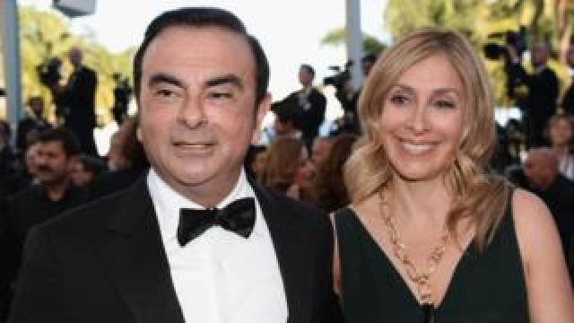 Carlos Ghosn and his wife Carole Ghosn at Cannes Film Festival in 2016