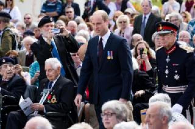 Prince William at a service at the National Memorial Arboretum in Staffordshire