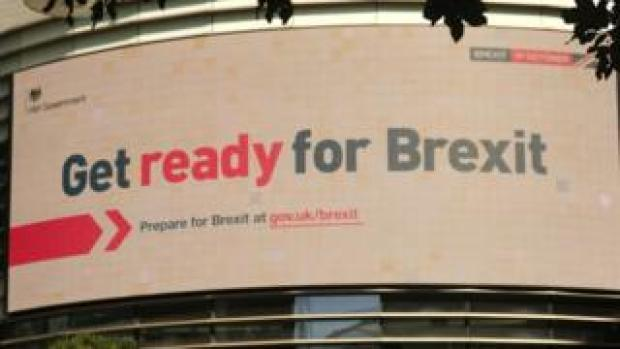 Billboard campaign 'get ready for Brexit'