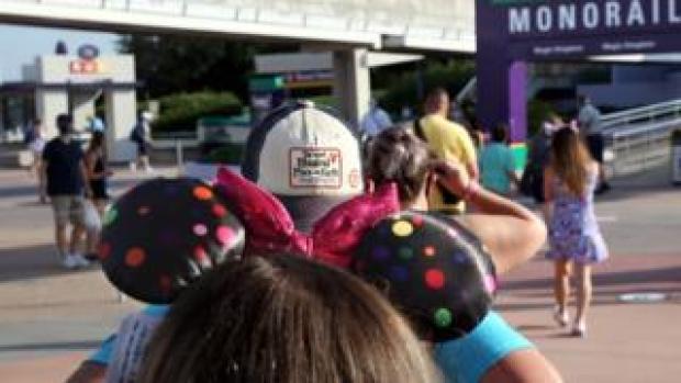 Children queuing near Magic Kingdom