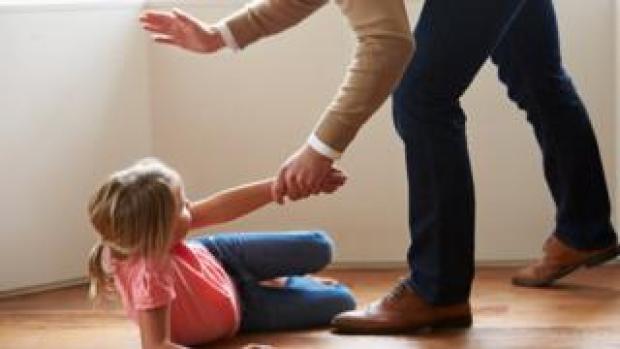 Child being hit