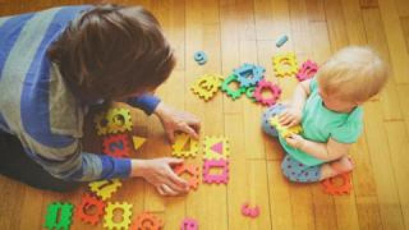 Childminder and child
