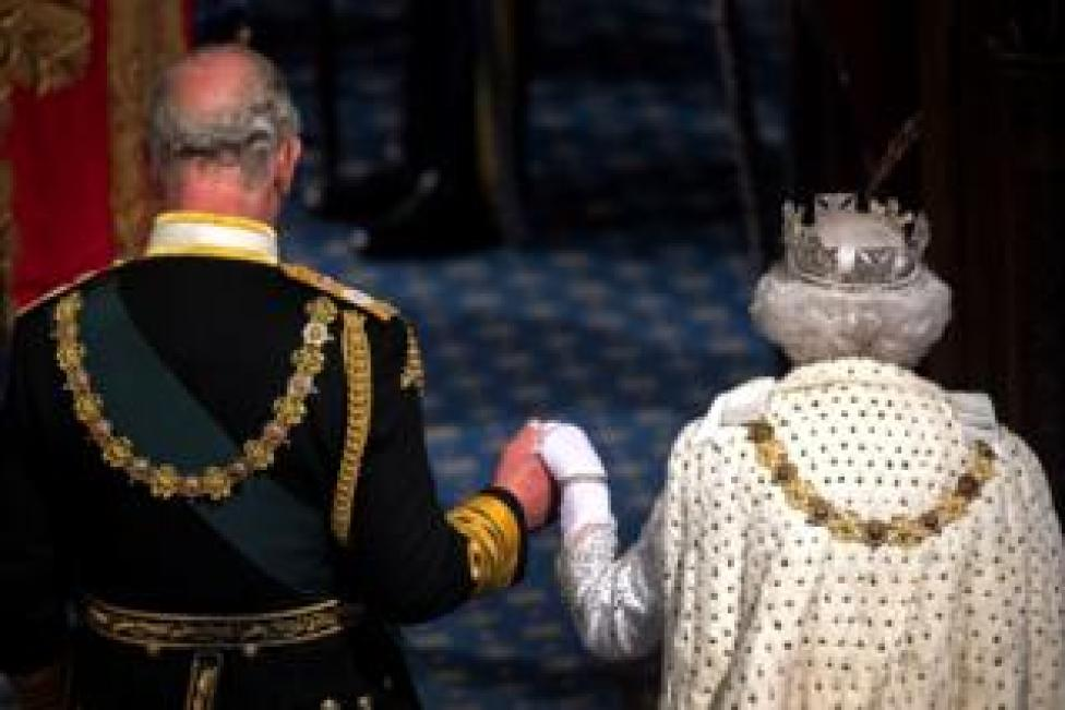 trump Queen Elizabeth II and Prince Charles