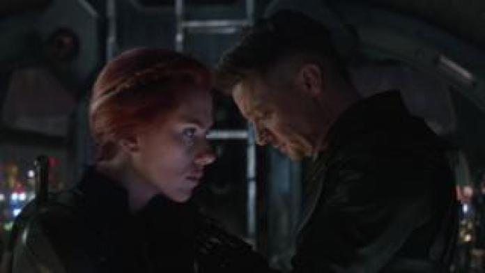 Scarlett Johansson and Jeremy Renner in Avengers: Endgame