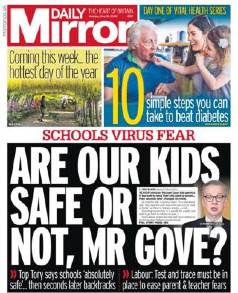 Daily Mirror 18 May 2020