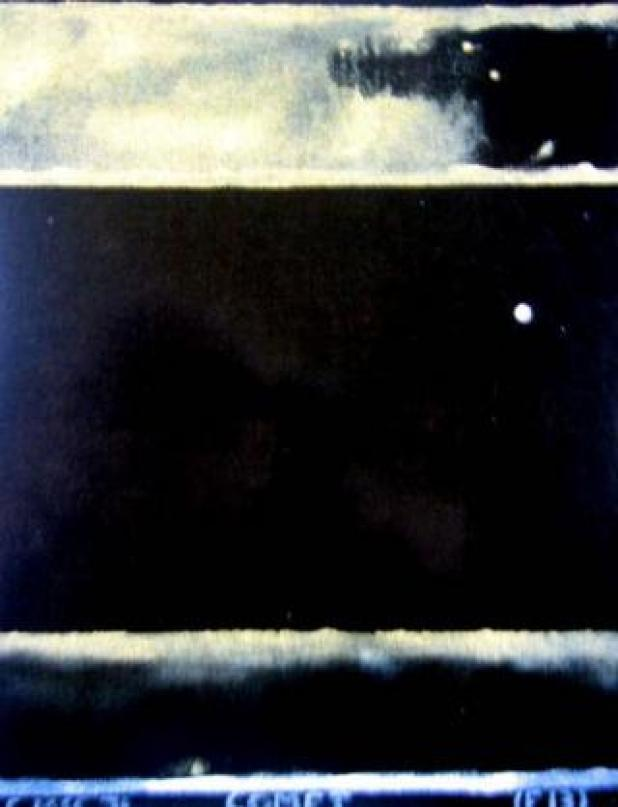 The stolen painting, Comet (F13), by New Zealand artist Colin John McCahon