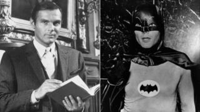 Adam West as Bruce Wayne and Batman