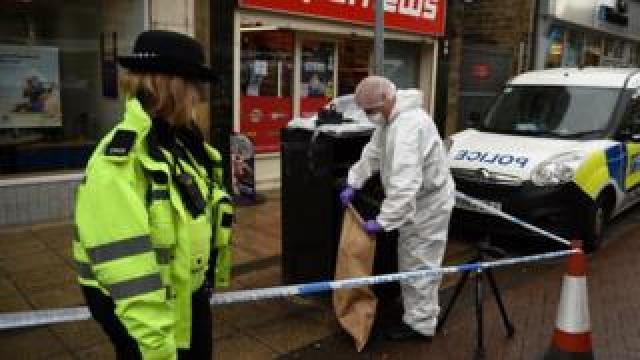 Police officer at crime scene
