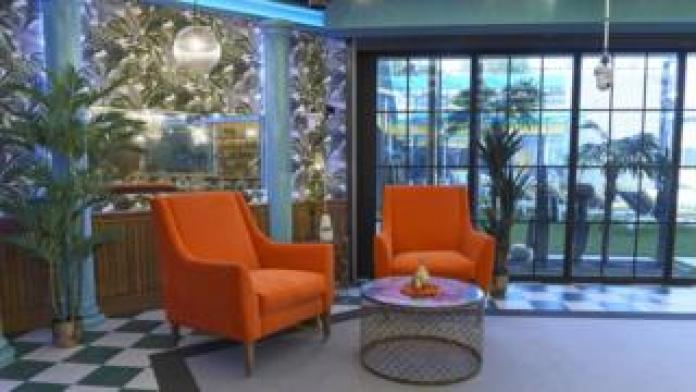 Orange armchairs in the Celebrity Big Brother 2018 house